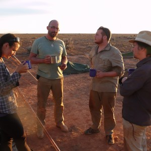 A hard day's searching means the DFN team can enjoy their afternoon cuppa