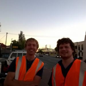 Scarborough Beach Road survey team
