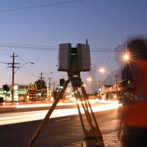 Surveying at Scarborough Beach Road - Perth Daytime Fireball