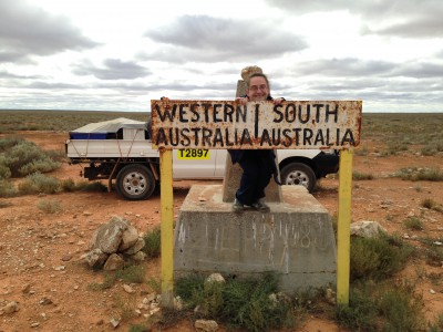 Katie's makes it to the WA/SA border