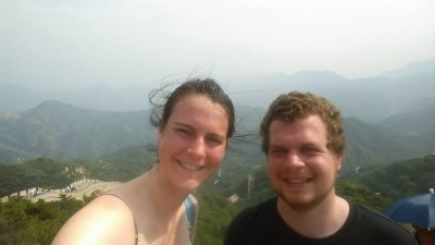Ellie and Rob at the Great Wall of China