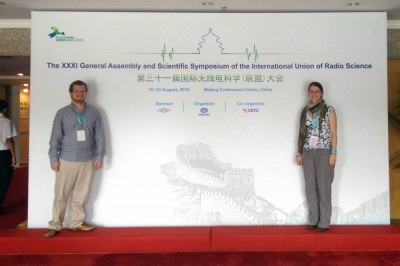 Rob and Ellie at the Scientific Symposium of the Internationl Union of Radio Science