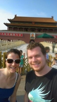 Ellie and Rob at the Forbidden City