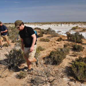 Phil and Rob on the meteorite hunt