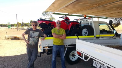 New purchase - a quad bike - should help the search (Jon Paxman, Phil Bland)