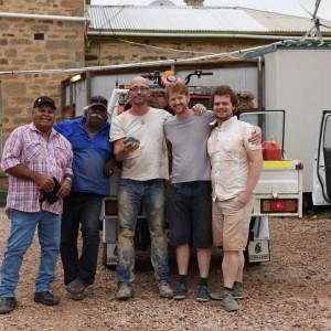The team - Dean Stuart, Dave Strangways, Professor Phil Bland, Dr Jon Paxman, Rob Howie
