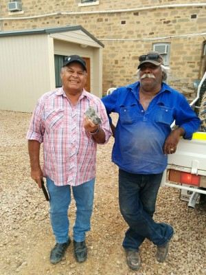 Dean Stuart, Dave Strangways, local Arabana men who were part of the New Year's Eve search