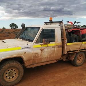 A post-field trip truck