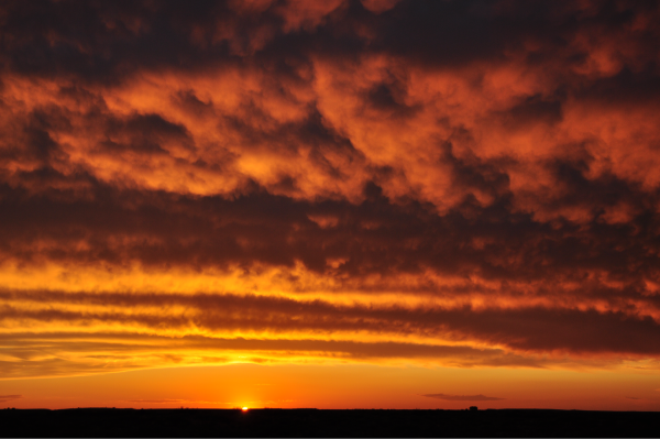 Sunset in the Nullarbor