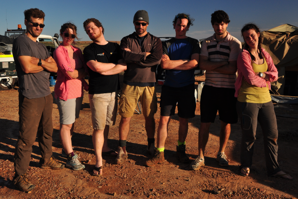The search team from left: Martin C, Sarah, Rob, Phil, Luke, Trent, Ellie
