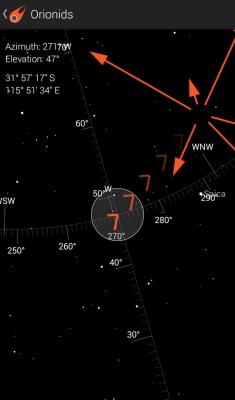 Fireballs in the Sky app: Orionids Meteor Shower