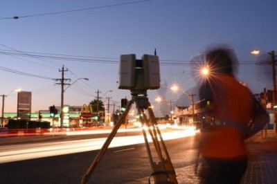 Cnr Scarborough Beach Rd and Charles St corner, measuring angles for Perth daytime fireball