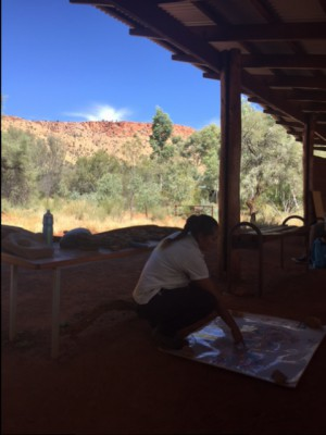 Renate shares  knowledge and traditons  of the Arrente people from the area around Alice Springs
