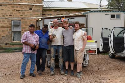 The meteorite recover team (Dean, Dave, Phil, Jon, Rob)