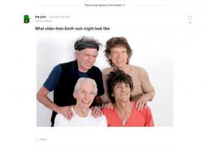 Older than Earth rock
