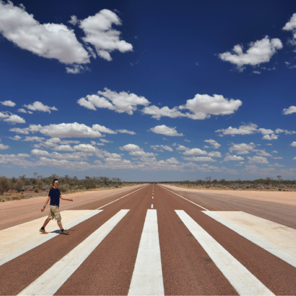 Luke on Abbey Road / the Eyre Highway